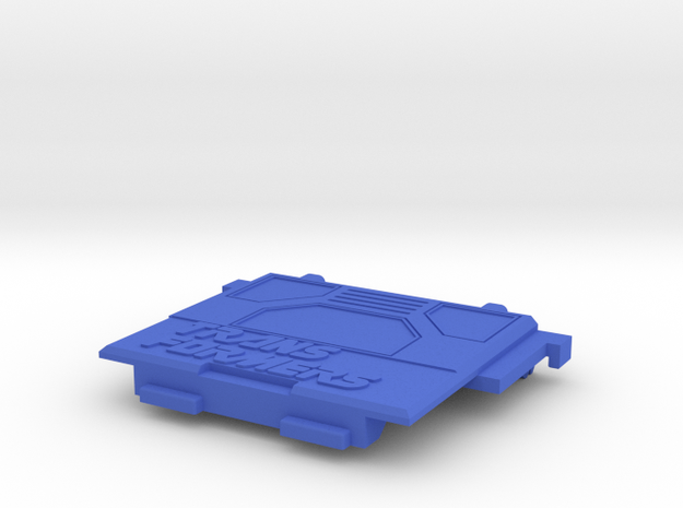 Transformers Thunderclash rear gate. in Blue Processed Versatile Plastic