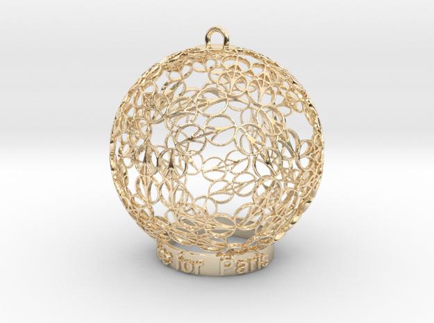 Peace for Paris Memento Ornament in 14K Gold