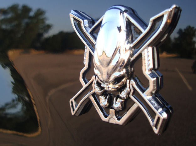 Legendary Emblem 3d printed 3D Print: Chrome Plated and Painted