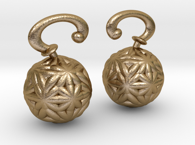 Vargheim Earrings Alfa in Polished Gold Steel