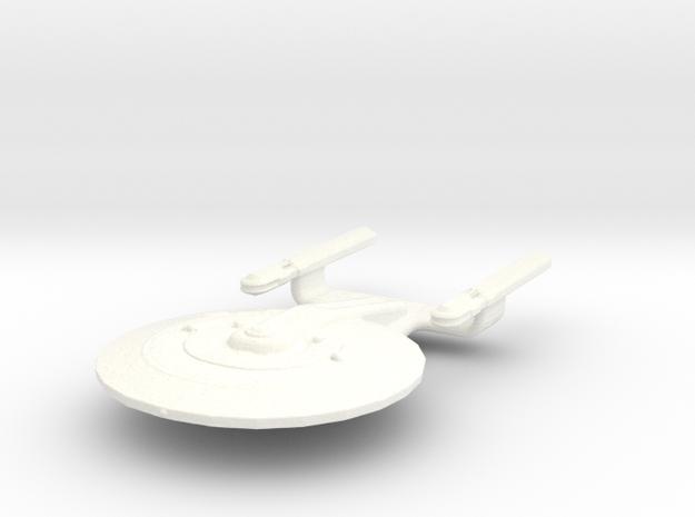 Uss Atlantis  in White Processed Versatile Plastic