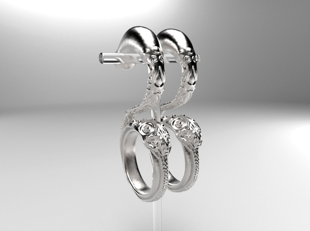 Dragon Loop Hanging Design (select a size) in Natural Silver