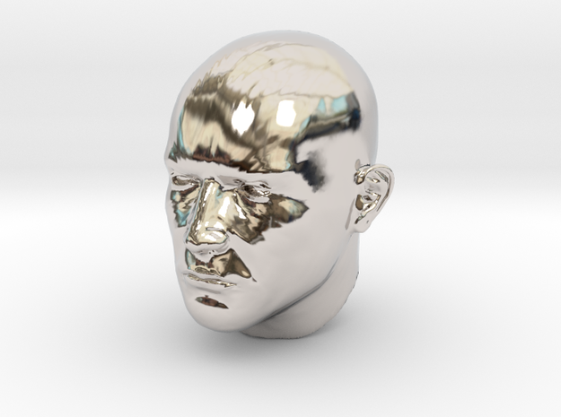 1/4 scale Highly detailed head figure Tete visage  3d printed
