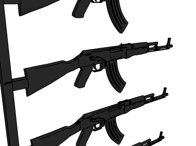 1/35 Kalashnikov assault rifle 3d printed 3d render