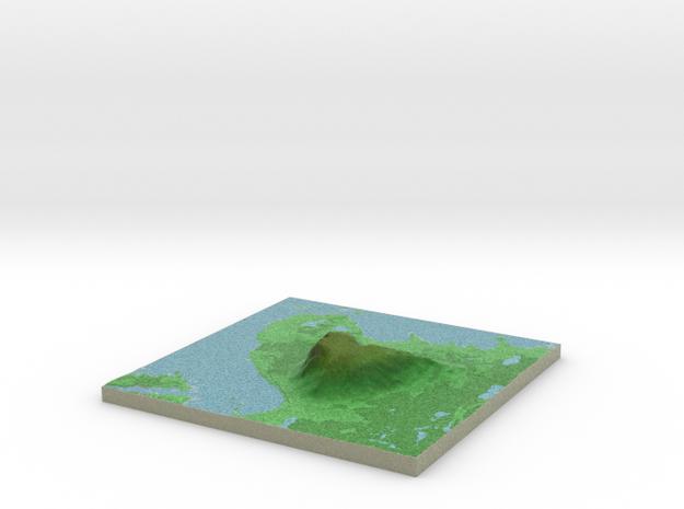 Terrafab generated model Sun Oct 11 2015 10:49:13  in Full Color Sandstone
