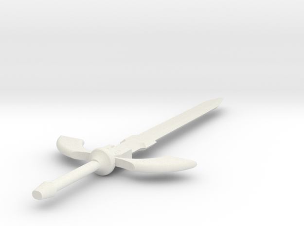 Master sword 1 foot in White Natural Versatile Plastic