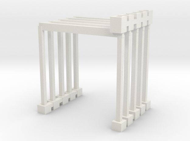 Wacky worm Left side track supports in White Natural Versatile Plastic