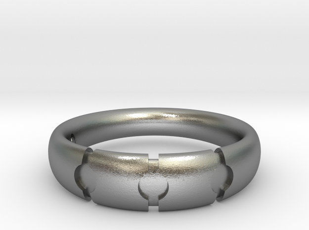 Enigmatic ring_Size 10 in Natural Silver