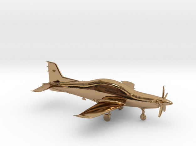 Pilatus PC-21 Turboprop gold & precious materials in Polished Brass