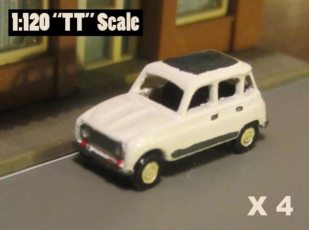 Renault 4 Hatchback 1:120 scale (Lot of 4 cars) in Frosted Ultra Detail