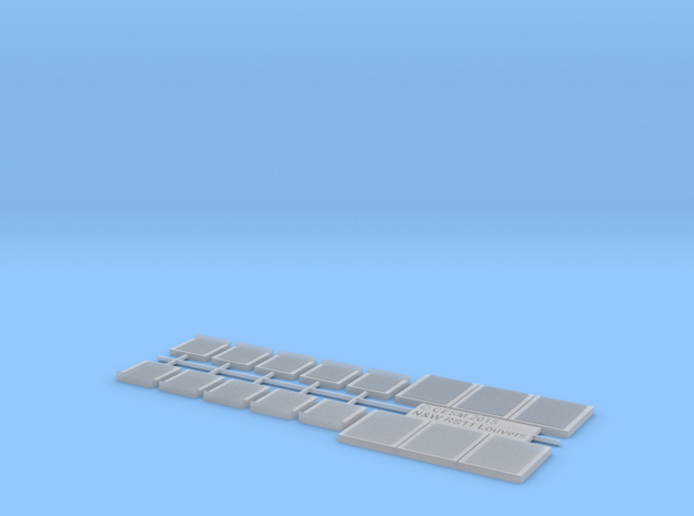 N&W RS11 Louvers (HO) in Smooth Fine Detail Plastic