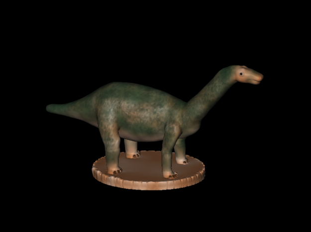 Miniature Apatosaurus Dark Green Full Color in Full Color Sandstone