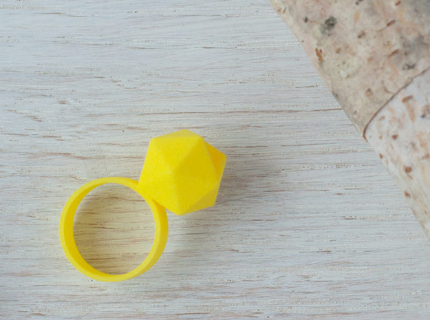 Icosahedron Planter Ring in Yellow Strong & Flexible Polished: 6 / 51.5