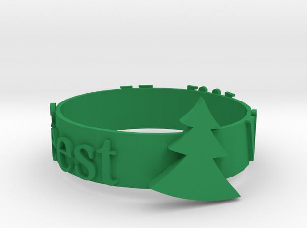 Napkin ring holder in Green Processed Versatile Plastic