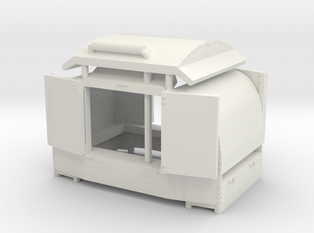 A-1-101-protected-simplex-both-doors-open-1 in White Strong & Flexible