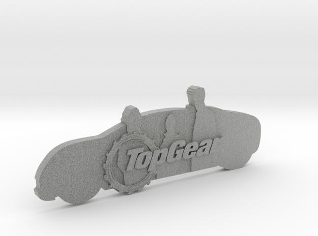 TopGear Crew Silhouette  in Metallic Plastic