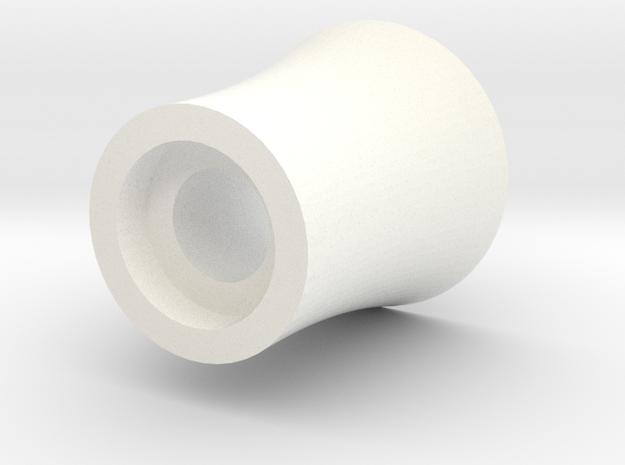 Spollette Funnel in White Processed Versatile Plastic