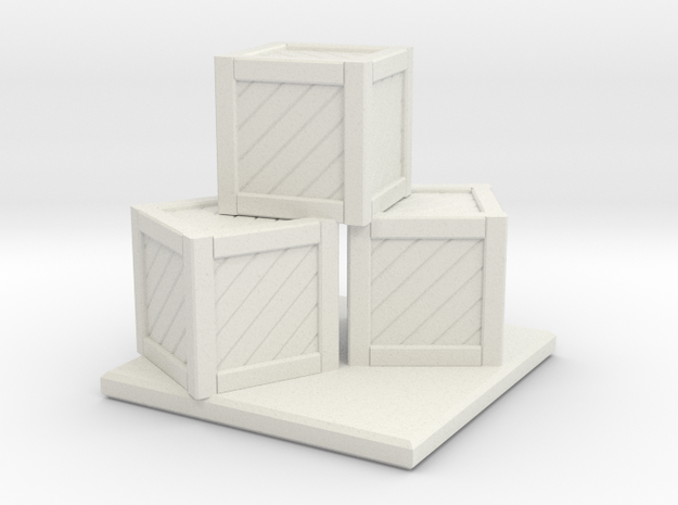 Crate Stack in White Natural Versatile Plastic