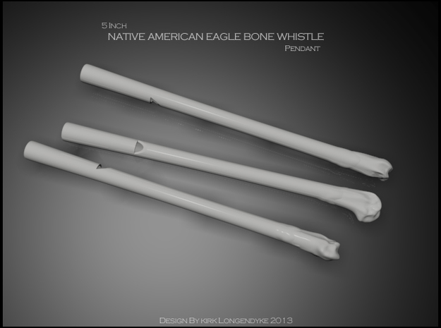 Eagle Bone Whistle 5 inch 3d printed Eagle Bone Whistles