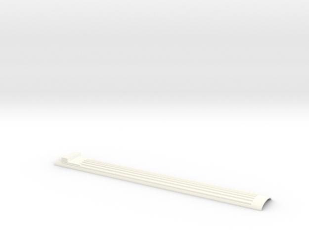 Dach Speisewagen Ew III Spur TT 1:120 1/120 1-120 in White Strong & Flexible Polished
