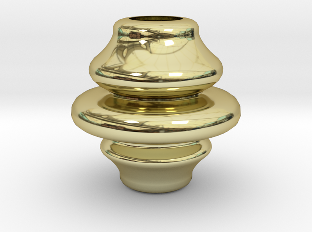 3.58inch Rounded Finial in 18k Gold Plated Brass