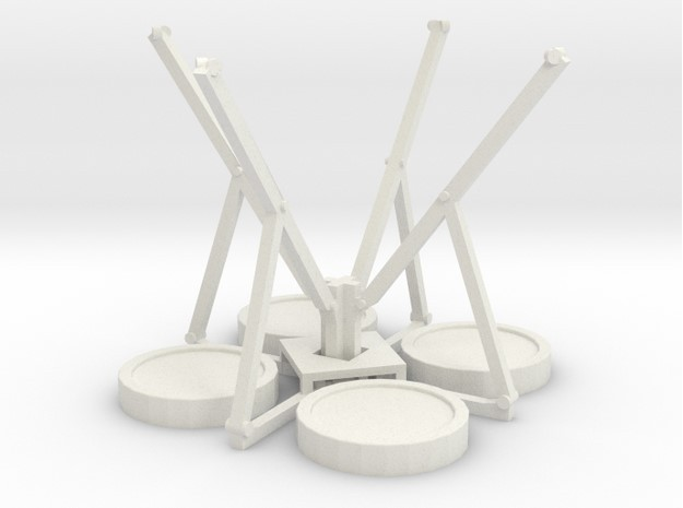 Bungee Trampolin 2.0 -  1:120 (TT scale) in White Natural Versatile Plastic