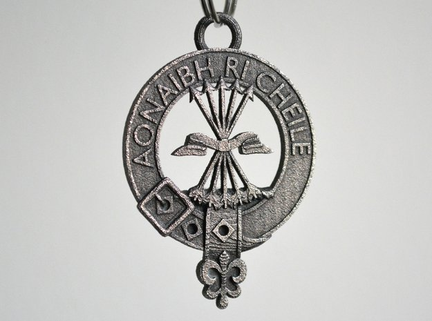 Cameron Clan Crest key fob in Polished Bronze Steel