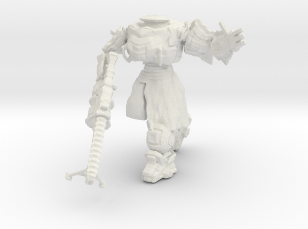 Imperial Armiger, 15mm Scale in White Strong & Flexible