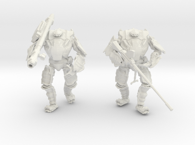 Combat Walkers HWS, 15mm Scale, Unbased in White Natural Versatile Plastic