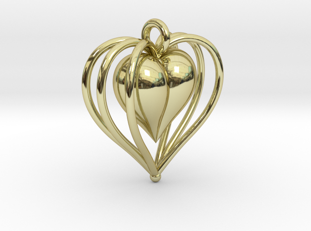 Hearts Cage in 18k Gold Plated