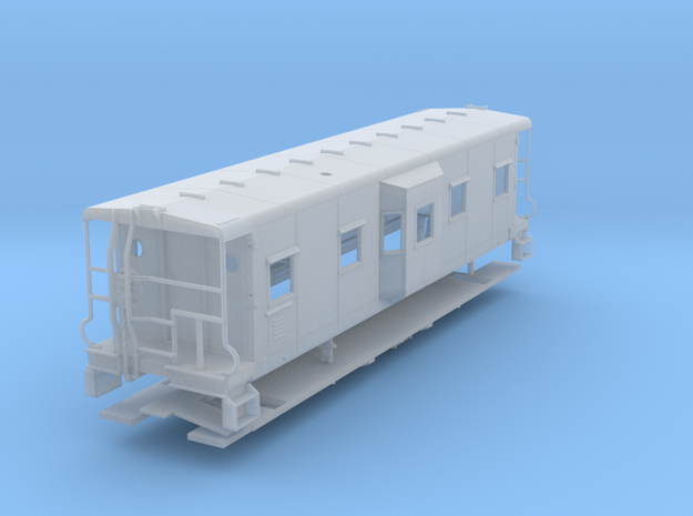 Sou Ry. bay window caboose - Round roof - O scale in Smooth Fine Detail Plastic