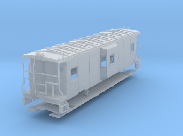Sou Ry. bay window caboose - mod. Hayne - S scale in Frosted Ultra Detail