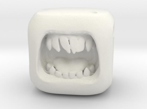 Dice Orc - Monster Dice - 16mm in White Natural Versatile Plastic