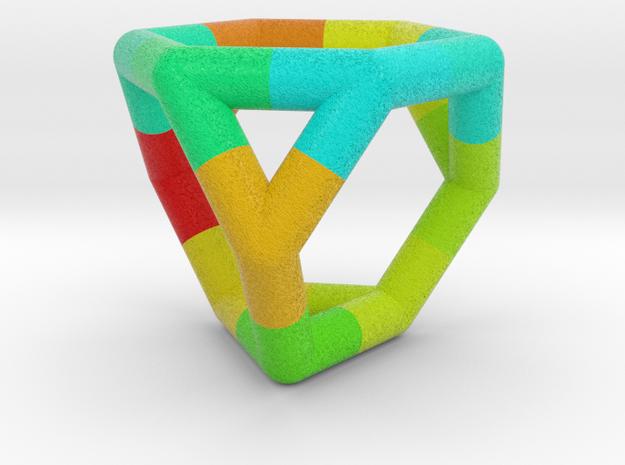 0289 Truncated Tetrahedron E (a=1cm, fc) #004 in Full Color Sandstone