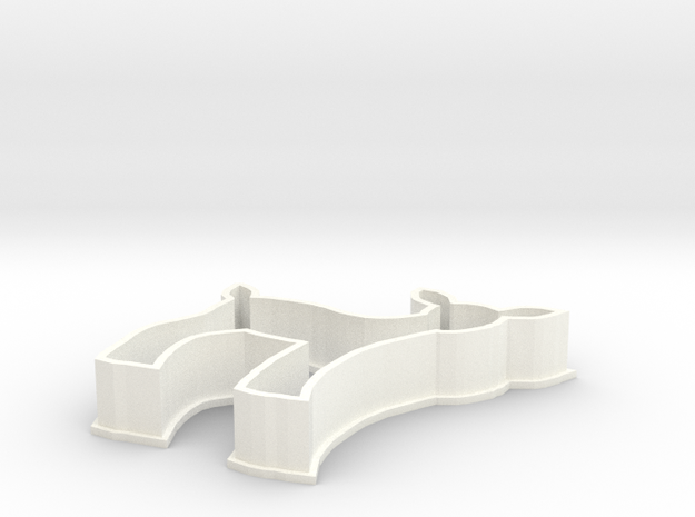 Fawn cookie cutter in White Processed Versatile Plastic