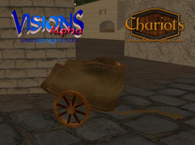 Chariot Bronze 3d printed Bronze Chariot - screenshot from Visions alpha