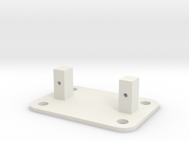 SG90 Servo Mount - Type 4  in White Strong & Flexible