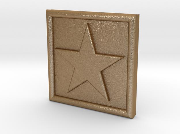 S-1-STAR in Matte Gold Steel