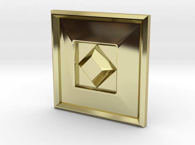 S-BASICCHAMDIAMOND in 18k Gold Plated Brass