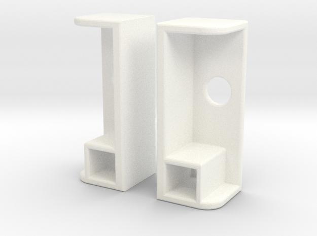 1/0 SCALE JEEP PROLINE REAR TAIL LIGHT SET  in White Processed Versatile Plastic