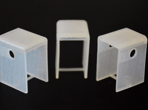 N-Scale SD24B Cab Replacement (3-Pack) in Frosted Ultra Detail