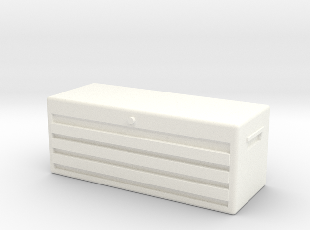 1/10 SCALE TOOL BOX in White Processed Versatile Plastic