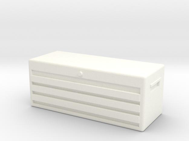1/10 SCALE TOOL BOX in White Processed Versatile Plastic