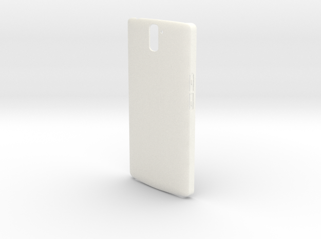 Customizable One Plus One case in White Processed Versatile Plastic