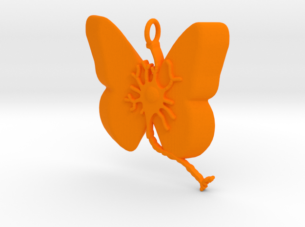 Multiple Sclerosis Neuron Butterfly in Orange Processed Versatile Plastic