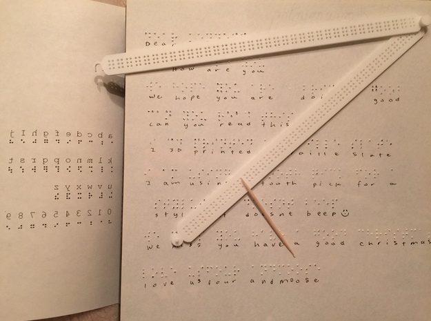 Manual Braille Slate and Stylus
