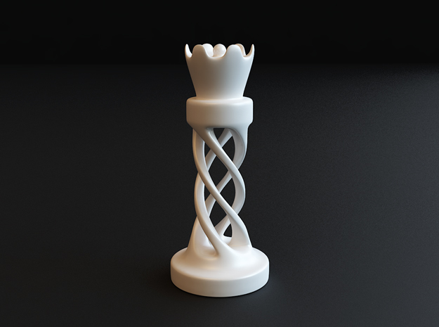 The Queen in White Processed Versatile Plastic
