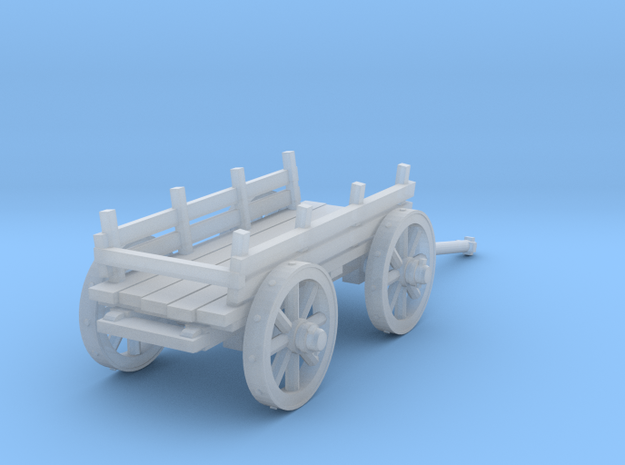 4-wheel сart 28mm in Smooth Fine Detail Plastic