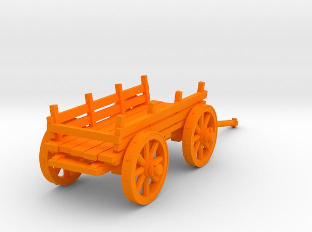 4-wheel сart 28mm in Orange Strong & Flexible Polished