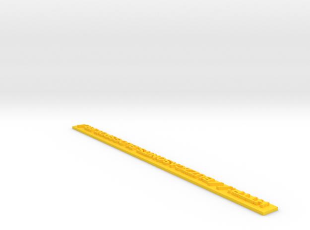 Tracker Lettrage 3 in Yellow Processed Versatile Plastic